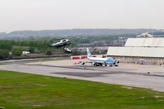 Marine One and Air Force One Royalty Free Stock Photo