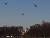 Marine One Approaches White House Imagen de archivo