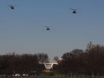 Marine One Approaches White House Stock Image