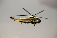 Marine One in Flight Stock Image