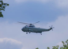Marine One Helicopter in Flight Stock Photography