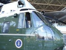 Marine One-helikopter door President die Lyndon B wordt gebruikt Johnson bij de Ronald Reagan-bibliotheek in Simi Valley Royalty-vrije Stock Foto