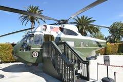 Marine One Nixon Library. YORBA LINDA, CALIFORNIA - FEBRUARY 24, 2017: Marine One Nixon Library. The helicopter was used by 4 presidents, Kennedy, Johnson, Nixon Stock Photo