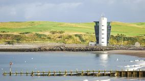 The Marine Operations Centre at Pocra Quay, North Pier, Aberdeen stock video footage