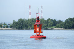 Marine orange buoy Royalty Free Stock Photos