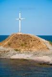 Marine Orthodox kors i Tsarevoen. Bulgarien Royaltyfria Foton