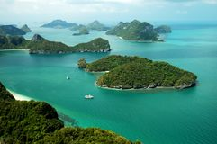 Marine park. Landscape in a marine park in Thailand Royalty Free Stock Photography