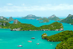 Marine Park: AngThong Marine National Park Viewpoint Royalty Free Stock Images