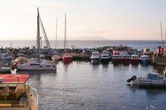 Marine Park voor boten op de kust van het overzees van Japan Royalty-vrije Stock Foto's