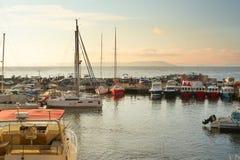Marine Park voor boten op de kust van het overzees van Japan Stock Foto's