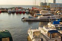 Marine Park voor boten op de kust van het overzees van Japan Stock Afbeelding