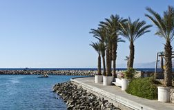 Marine part of promenade in Eilat, Israel Royalty Free Stock Images