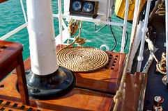 The marine parts of the ship. Sailboat Royalty Free Stock Images