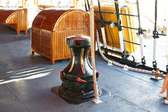 The marine parts of the ship. Sailboat Royalty Free Stock Image