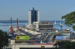 Marine Passenger Station och hotell Odessa Fotografering för Bildbyråer