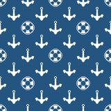 Marine Pattern bleue sans couture illustration de vecteur