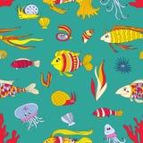 Marine pattern bright Stock Photos