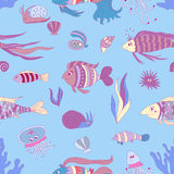 Marine pattern cold Royalty Free Stock Photo