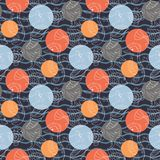 Marine pattern with polka dots Stock Photography
