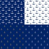 Marine Pattern sans couture avec l'ancre illustration de vecteur