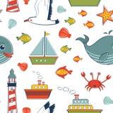 Marine pattern Stock Images