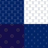 Marine Pattern sem emenda com farol Fotos de Stock Royalty Free