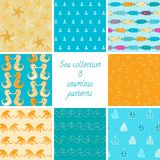 Marine patterns collection 1 Royalty Free Stock Photography