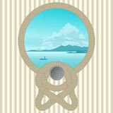 Marine Picture con una cuerda Fotografía de archivo libre de regalías