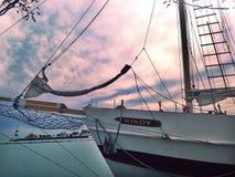 Marine-Pier Lizenzfreie Stockfotos