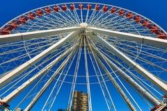 Marine Pier Ferris Wheel Photo stock