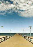 Marine pier in Palanga. Royalty Free Stock Photos