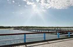 Marine pier in Palanga. Royalty Free Stock Photography