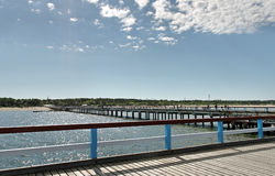 Marine pier in Palanga. Royalty Free Stock Images