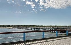 Marine pier in Palanga. Famous marine pier in Palanga, popular resort city in Baltic region Royalty Free Stock Images
