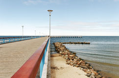 Marine pier in Palanga. Royalty Free Stock Photo