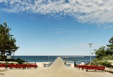 Marine pier in Palanga. Stock Photography