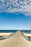 Marine pier in Palanga. Stock Images