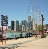 Marine Pier Park de Chicago Photo stock