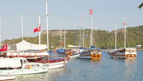 Marine-Pier, Pier für Schiffe stock video