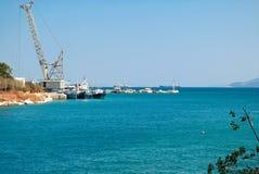 Marine pier. stock photo