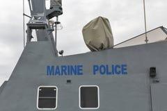 Marine police boat closeup Royalty Free Stock Photography