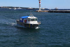 Marine Police Cannes Arkivfoto