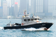 Marine Police in Hong Kong. Coast guard ship of Hong Kong Marine Police Stock Image