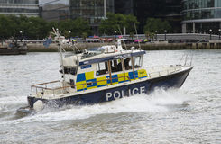 Marine police on River Thames London UK Royalty Free Stock Photos