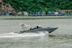 Marine police speed boat Royalty Free Stock Photo