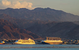 Marine port of Aqaba, Jordan Royalty Free Stock Photo