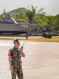 Marine preparing Military Parade of Royal Thai Navy, Sattahip Naval Base, Chonburi, Thailand Stock Images