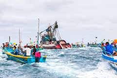 Marine procession Stock Images