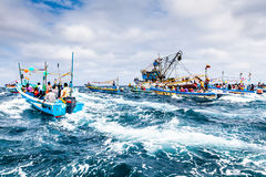 Marine procession Royalty Free Stock Photography