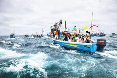 Marine procession Stock Photography